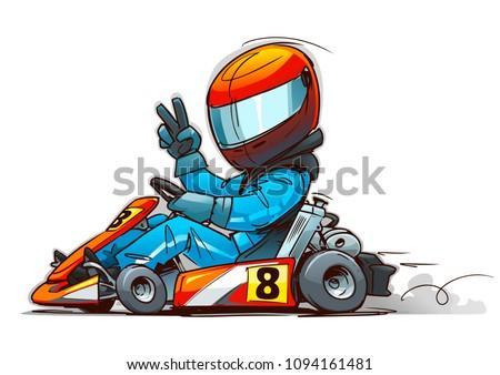 Shifter Kart Racer cartoon illustration