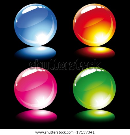 Shine balls. Items for your design.