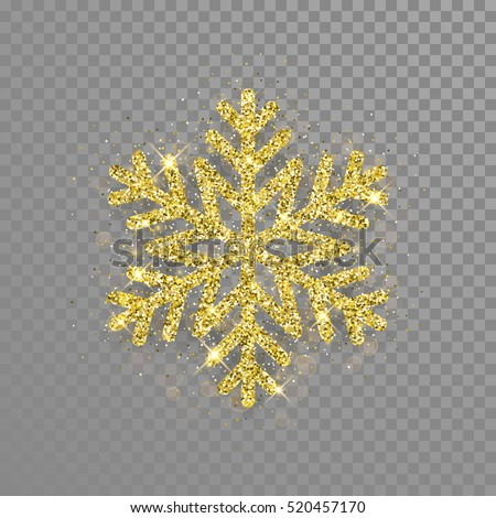 shine golden snowflake covered