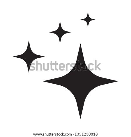 Shine icon, Clean star icon