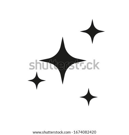 Shine icon, Clean star icon Сток-фото ©