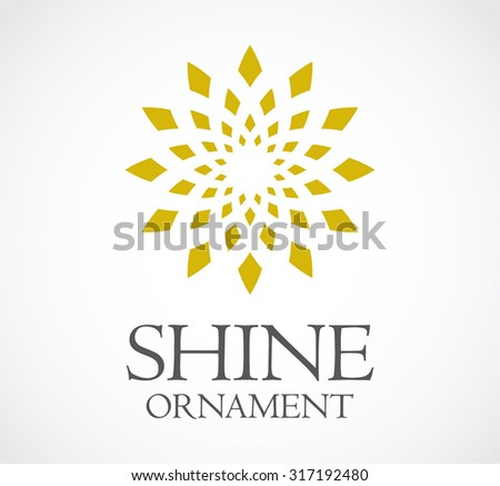 Shine ornament circle flower abstract vector logo design template decoration business icon company art symbol concept