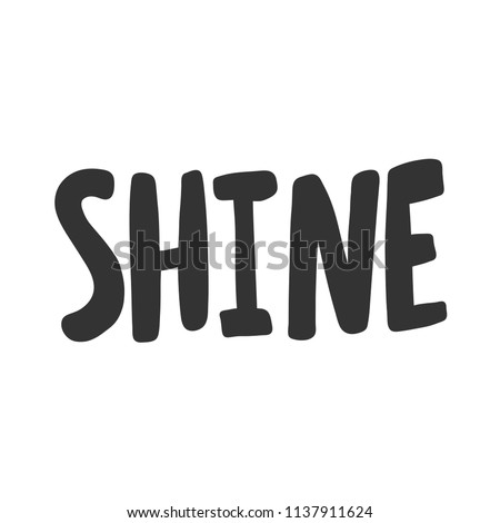 shine sticker for social media