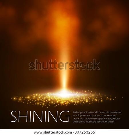 shining beam abstract