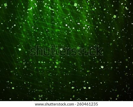 shining bokeh green