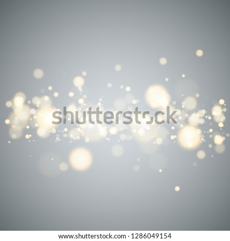 Shining bokeh isolated on transparent background. Christmas concept Vector illustration EPS10 #1286049154