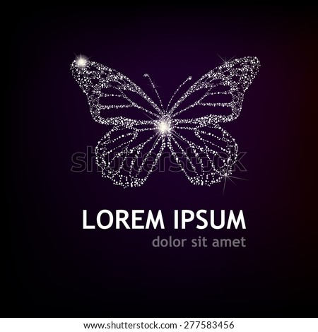 shining butterfly vector