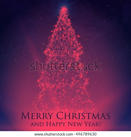 shining christmas trees on