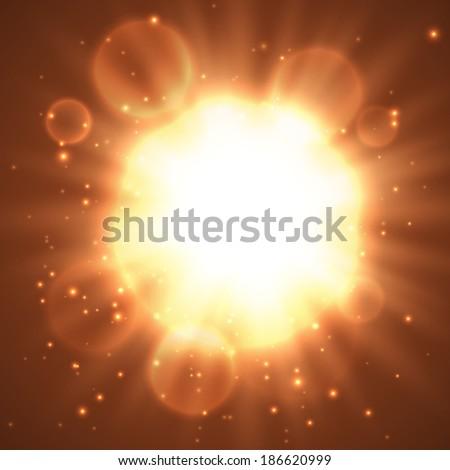 Shining energy ball background. Vector eps10.