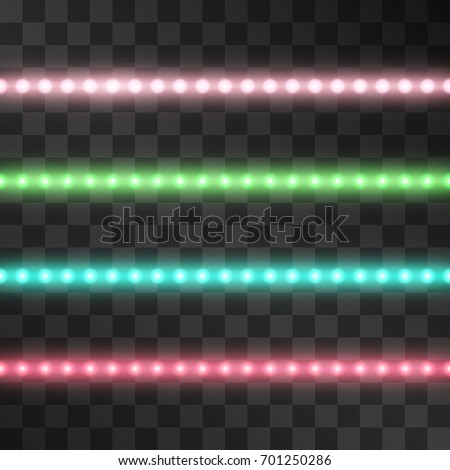 shining led vector stripes