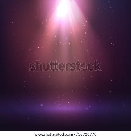 Shining light effect, cosmic background
