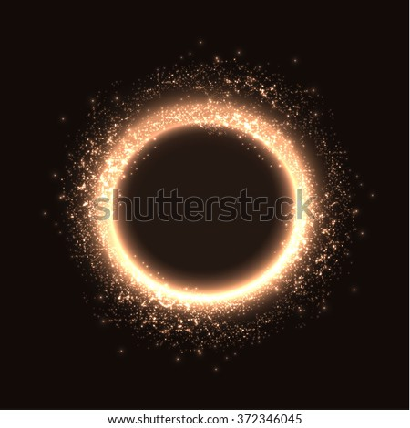 shining magic ring frame vector