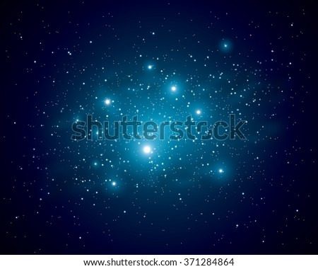 shining of the stars in space