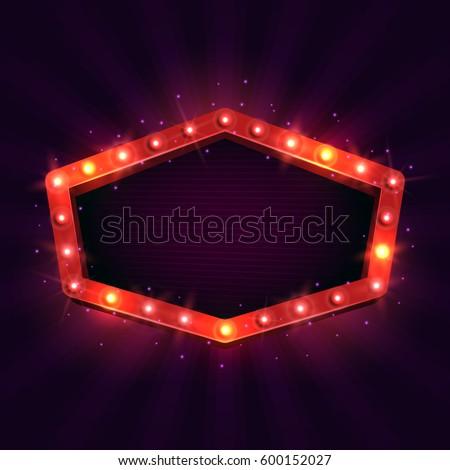 shining retro billboard