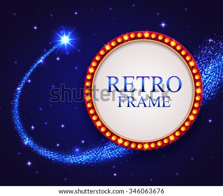 shining retro frame with