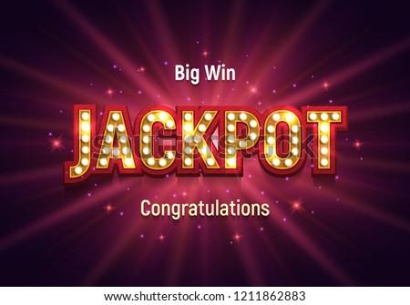 Shining retro sign Jackpot banner. Vector illustration. Photo stock ©