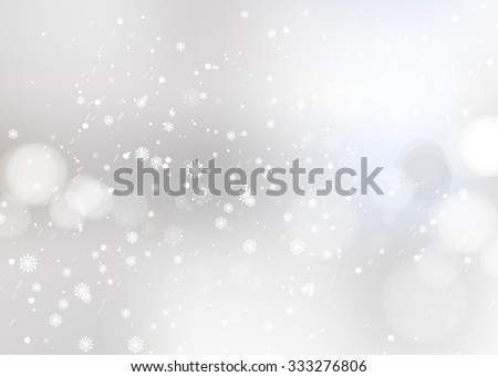shining snow blur christmas