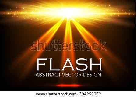 shining spotlight flash empty