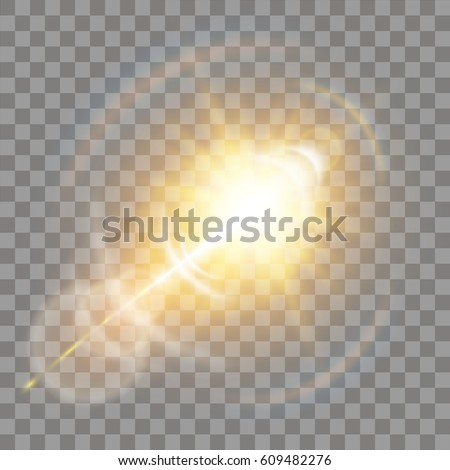 shining vector golden sun with