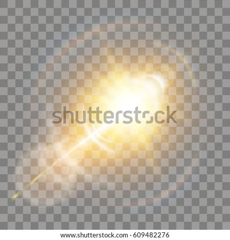 shining vector golden sun with