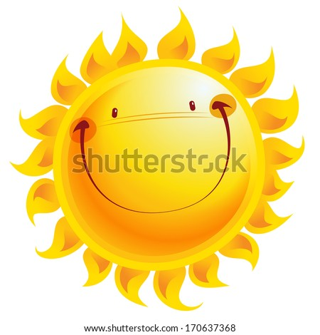 Shutterstock Shining yellow smiling sun cartoon character as weather sign temperature