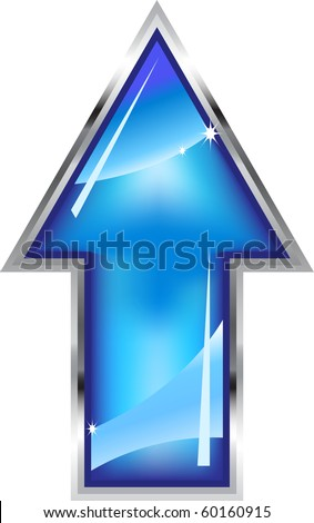 Shinning arrow with frame. Vector.