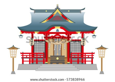 shinto shrine  isolated on