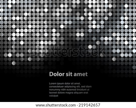 Dark dotted business card download free vector art stock graphics shiny background with sequins template for your design can be used for business cards colourmoves