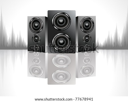 shiny black sound box set vector illustration