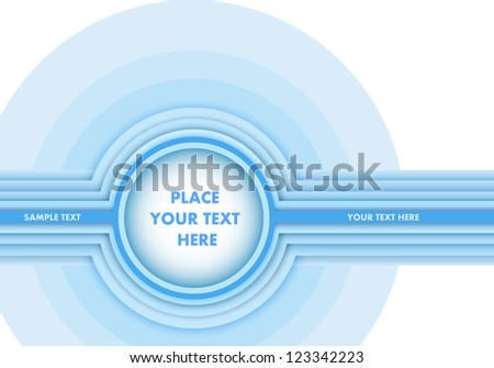 Shiny Blue Color Round Background - stock vector