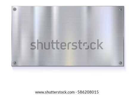 shiny brushed metal plate
