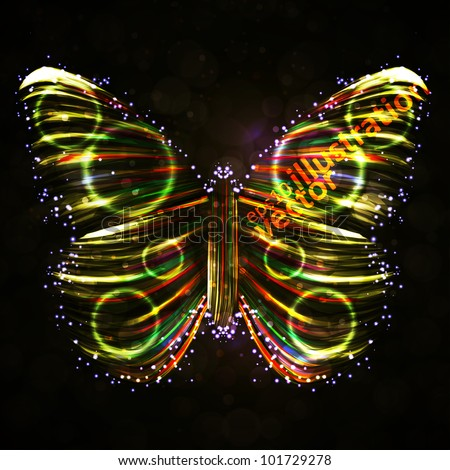 shiny butterfly abstract vector