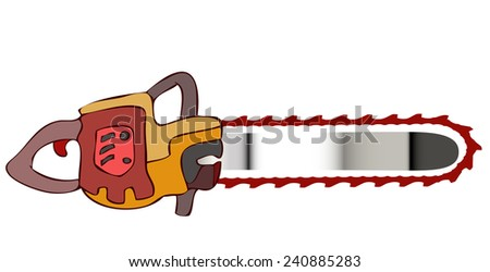 shiny chainsaw vector