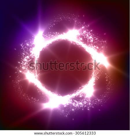 shiny circle vector background