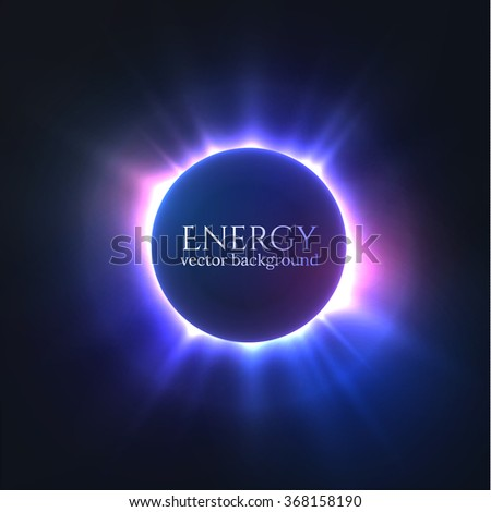 shiny colorful circle frame