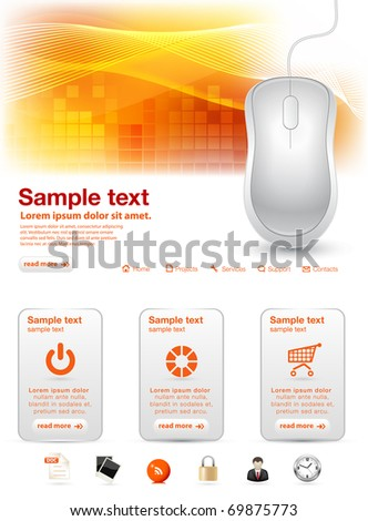 Shiny computer mouse website template