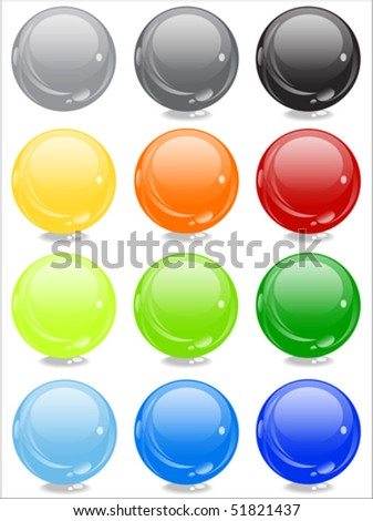 shiny cool color sphere - vector - stock vector