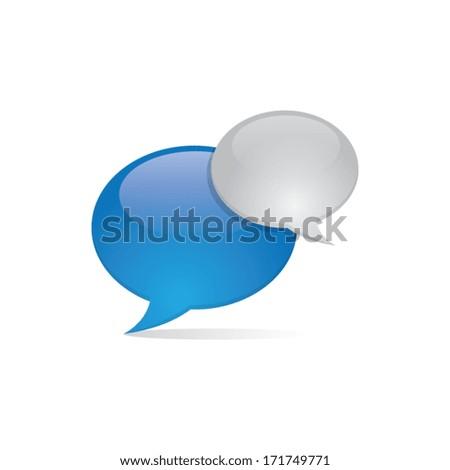 shiny 3d speech bubbles