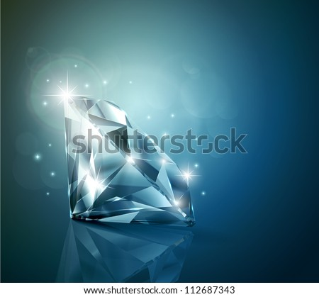 Shiny diamond background
