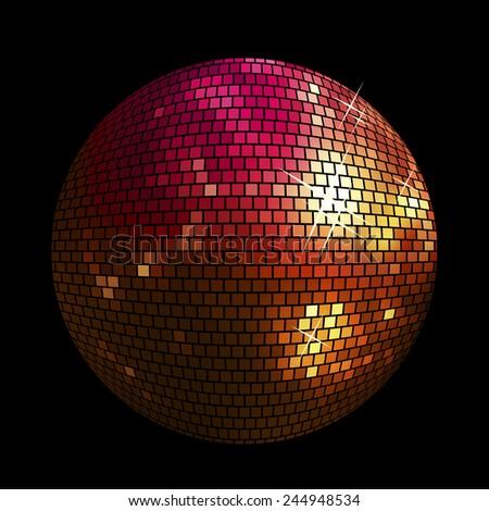 shiny disco ball background