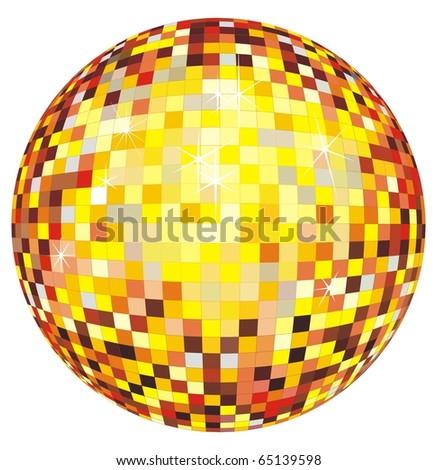 Shiny disco ball design. Vector illustration - stock vector