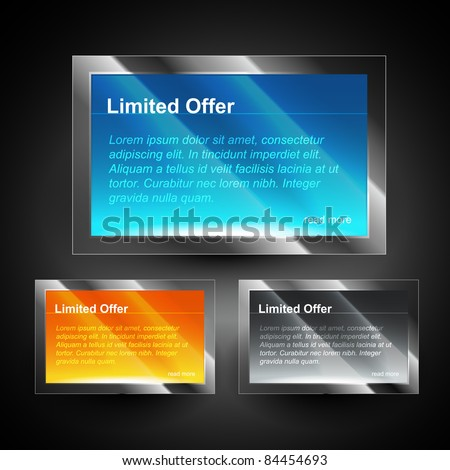 shiny display box with space for your text