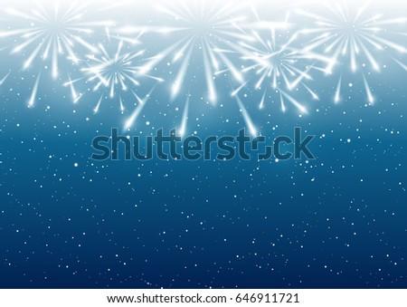Shutterstock Shiny fireworks on blue background