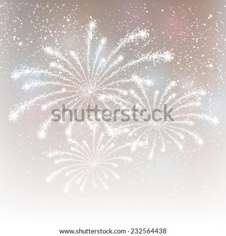 shiny fireworks on silver