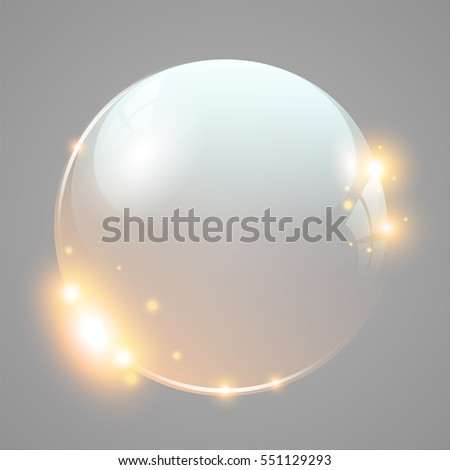 shiny glass ball with light