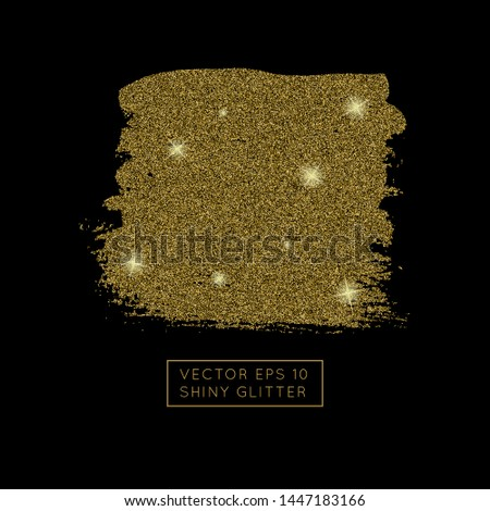 Shiny golden glitter vector background. Shiny sparkling star dust texture for luxury rich greeting card. Isolated   abstract rectangle Shape design element.