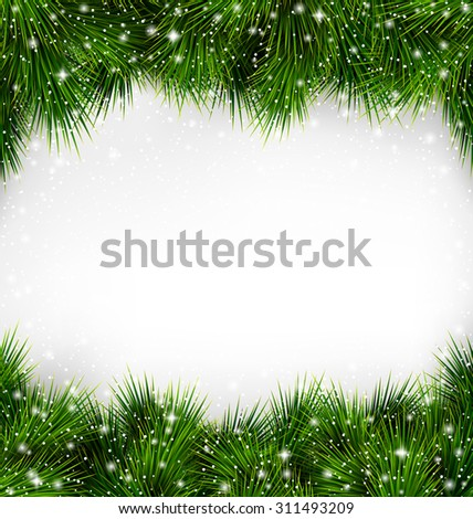 shiny green christmas tree pine