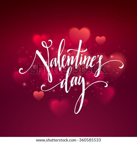 shiny hearts bokeh valentine
