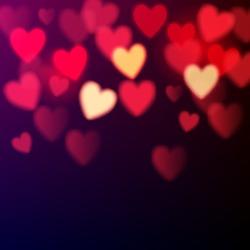 Shiny hearts bokeh Valentine's day background