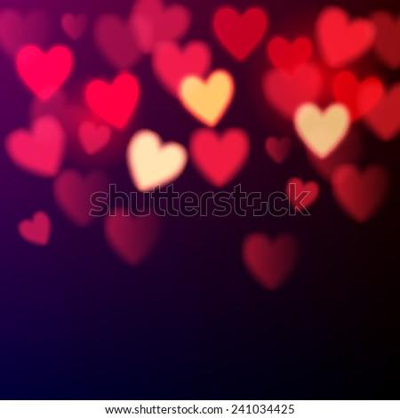 shiny hearts bokeh valentine's